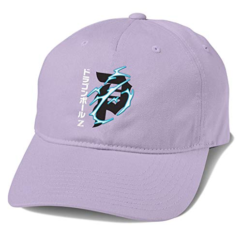 Primitive Skate x Dragon Ball Z Men's Dirty P Lightning Dad Buckle Hat Lavender
