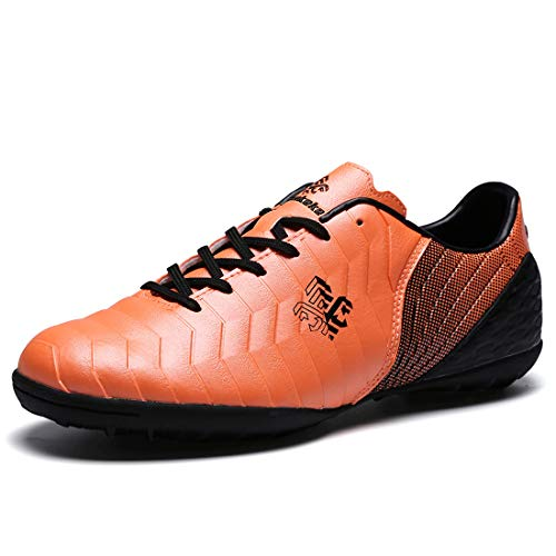 Boy's Turf Soccer Shoe Orange TF Indoor Professional...