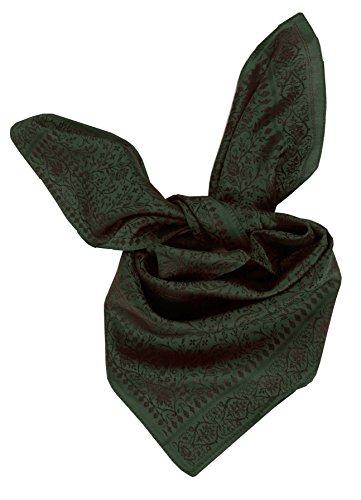 Moschen-Bayern Trachtenhalstuch Trachtentuch Halstuch Trachten Damen Herren Nickituch zum Oktoberfest Bayern Seide Tuch Seidentuch Grün Schwarz