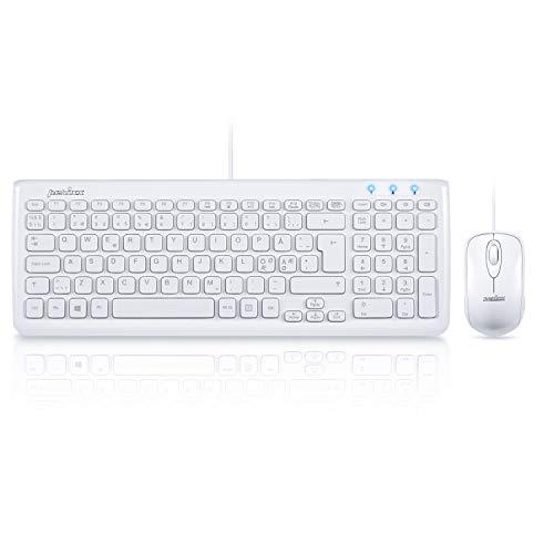 Perixx PERIDUO-303 - Ratón nórdico con cable para ordenador pequeño con teclado...