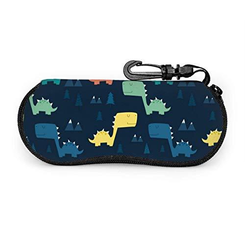 Étui à lunettes de soleil Animal Dinosaur Travel Soft Neoprene Zipper Eyeglass Bag