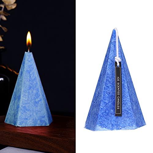 WNSC Vela de decoración, Vela de Cono geométrica romántica para Fiestas para Aniversarios