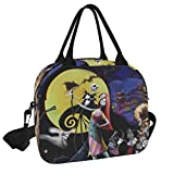 Jack Skellington Sally Reusable Insulated Cooler Lunch Bag - Freezable Tote Picnic bag Organizer with Adjustable Shoulder Strap - Portable Lunch Box for Office Work Workout Travel