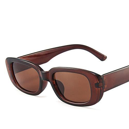 Secuos Moda Gafas De Sol Cuadradas Retro Clásicas para Mujer, Gafas De Sol Rectangulares Pequeñas De Viaje Vintage para Mujer, C6Brown