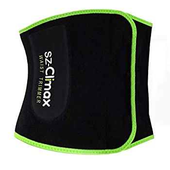SZ-Climax Waist Trainer Belt Promotes Sweat Wrap Exercise Belt Women Men Fitness Workout Belt Abdominal Trainers Back Support with Pocket for Cell Phone