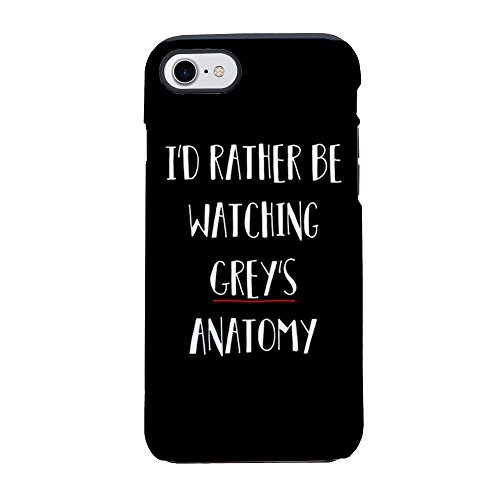 CafePress I'd Rather Be Watching Grey's iPhone 7 Tough Case iPhone 8 / iPhone 7 Phone Case, Tough Phone Shell