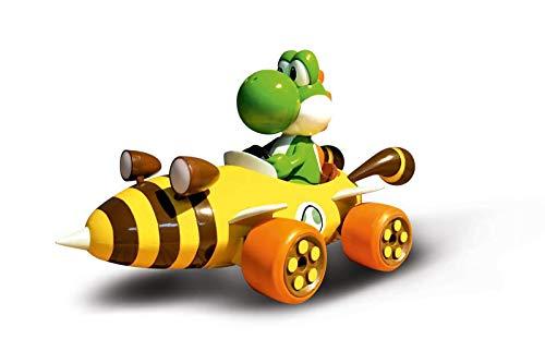 Carrera RC Nintendo Mario Kart Bumble V mit Yoshi I Ferngesteuertes Auto ab 6 Jahren für drinnen & draußen I Mini Mario Kart Auto mit Fernbedienung zum Mitnehmen I Spielzeug für Kinder & Erwachsene