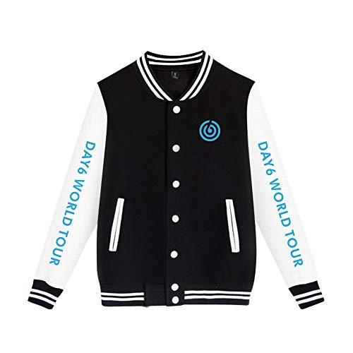 Unisex Bedrukte Pilotenjas Kpop DAY6 WORLD TOUR Jas Klassiek Honkbal Retro Tops Jas Bomberjack Sweatshirt Herfst Winter Vest College Hip Hop Blazer Bovenkleding