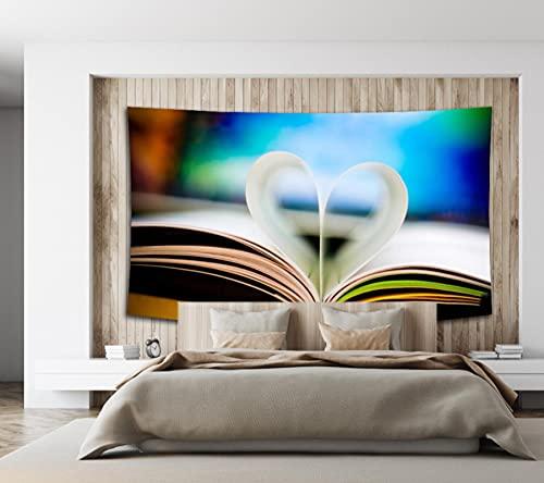 Libro En Forma De Corazón Tapiz Colgante De Pared Dormitorio Sala De Estar Decoración De Pared Tapices Estera De Yoga Toalla De Playa Manta Mantel 150X200Cm