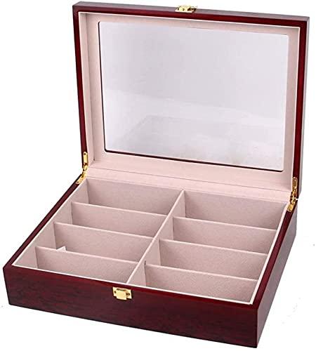LIUYULONG humidor de Puros Caja de Almacenamiento Caja de Madera Caja de visualización Caja de Almacenamiento Ocho Caja de Almacenamiento de Madera