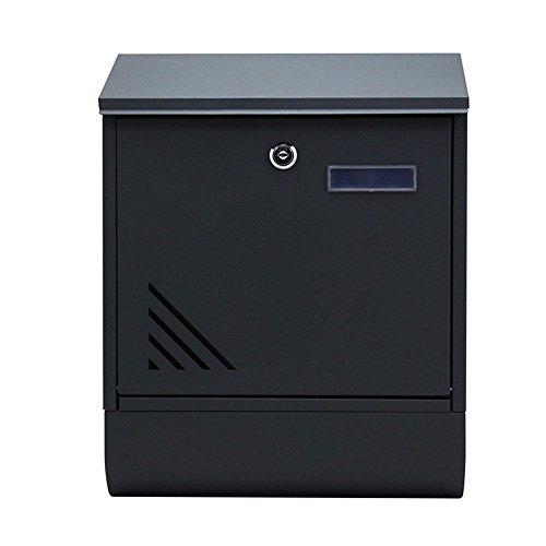 LZQ Modernem Design Edelstahl Briefkasten, Wandbriefkasten mit Zeitungsfach, A4 Einwurf-Format, mit Sichtfenstern, Namensschild, Abschließbar mit 2 Schlüssel (D Type)