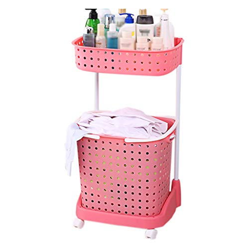Küchenwagen QIQIDEDIAN Pink Hamper Storage Rack Badezimmer Persönlichkeit Lagerregal Lagerregal