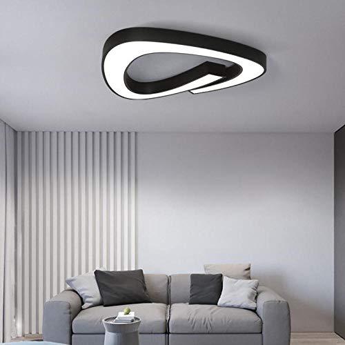 Zwart-witte lampen-acryl lampen-plafond voor woonkamer-bed keuken 5 cm ultradunne lighitte bevestigingen @wit 50X48X5Cm 24W met Rc dimbaar