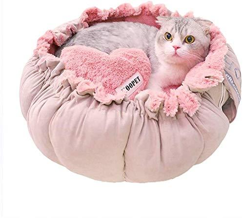 cuccia cane 4 stagioni DHGTEP Nido per Gatti Cuccia Soffice per Cani Animali Domestici Rosa Cuccia per Cani Rosa Quattro Stagioni Piacevole Cuccia Soffice per Gatti Cuccia Comfort per Cani e Gatti (Size : Small)