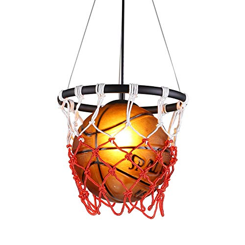 YTYDENG Pendelleuchten Basketball Glasleuchter American Retro-Kunst-DIY Gesponnene Hängende Lampen-Restaurant Bar Sport-Thema-Park-Stadion Basketball-Netz-Deckenleuchte Wohnzimmer-Schlafzimmer-Lampe