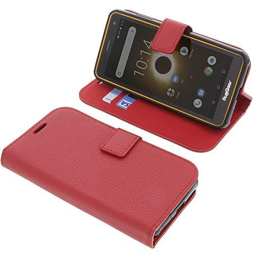 foto-kontor Tasche für Ruggear RG650 Book Style rot Schutz Hülle Buch