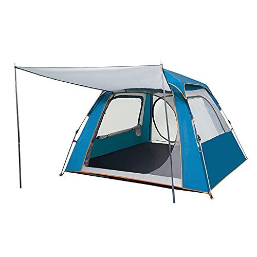 Tenda da spiaggia parasole riparo 3-4 4-5 persone ispessimento automatico ultra-leggero attrezzature all'aperto campeggio impermeabile protezione solare spiaggia campeggio all'aperto, blu, 210210140 cm