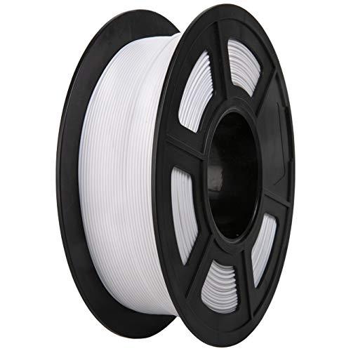 PLA Filament, PRINSFIL Filament 1,75 mm PLA für FDM 3D Drucker, 3D Druckmaterialien 1 kg 1 Spool, Cool White