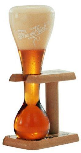 Pauwel Kwak Lot de 2 Verres à bière Belge avec Support en Bois 0,3 l