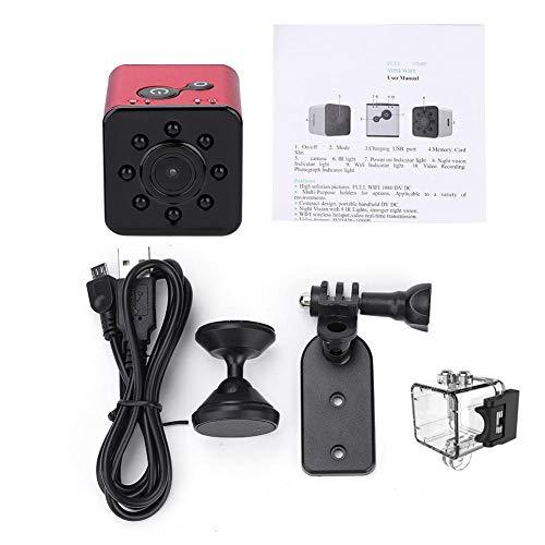 Diyeeni camcorderkit, draagbare mini-camcorderkit voor 1080p HD-infrarood wifi-actioncamera's met houders, 30 m duikcapaciteit, 12 MP HD-beeld en 1080P-video, rood