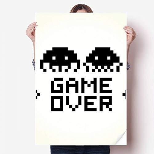 DIYthinker Game Over Little Monster Pixel Vinyl Muursticker Poster Fotobehang Kamer Decal 80X55Cm