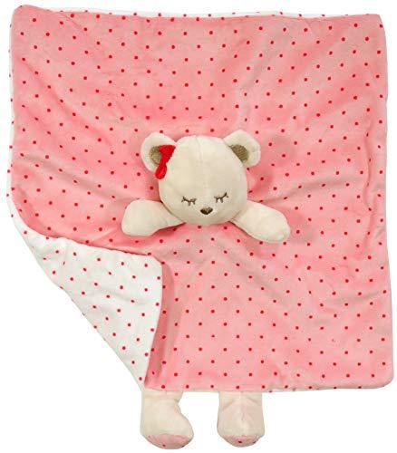 Mayoral Manta de seguridad para bebé, diseño de osito, color rosa, 28 x 28 cm