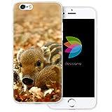dessana Cochon Cochon Transparent Coque de Protection pour Apple iPhone 6/6S Sanglier Porcinet