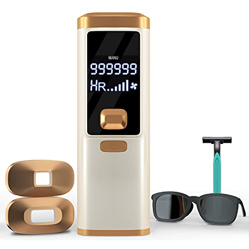 Laser Hair Removal, Hair Removal for Women and Men Permanent Painless Hair Remover Upgraded to 999,999 Flashes, At Home Hair Removal Device for Facial Legs Arms Whole Body