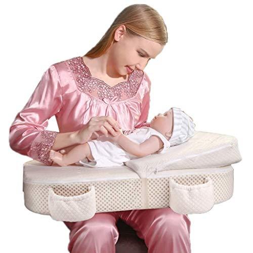 Wyyggnb Almohada de Lactancia, Almohadas de Lactancia Materna, Valla de Seguridad, Almohada de Lactancia Materna, Almohada de Dormir para Aprender a Sentarse en la Almohada