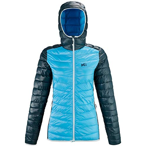 MILLET Tilicho Hoodie W Insulated Jacket, Light Blue/Orion Blue, M Womens