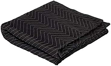 """Moving Storage Packing Blanket - Super Size 40"""" x 72"""" Professional Quilted Shipping Movers Furniture Pad (1, Black)"""