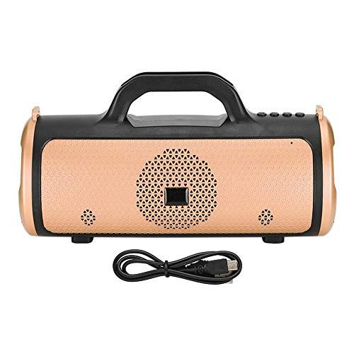 Wendry Altavoz, Altavoz Bluetooth inalámbrico, Altavoz Bluetooth portátil para el hogar, con una Capacidad de batería Grande de 1200 mah, Duradera y Larga Vida útil (ABS)(Oro)