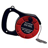 Promate Scuba Diving Reel Line and Spool with Plastic Handle,Orange, 290 ft Long String