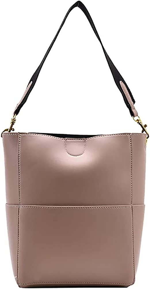SUSIE ISLAND Pu Leather Bucket Bag Tote Purse And Handbags Satchel Hobo Purses