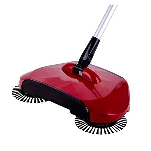 Vovotrade - Scopa girevole a 360°, uso domestico, per pavimento, scopa meccanica 44.1x11.8x7.5' / 112*30*19CM rosso