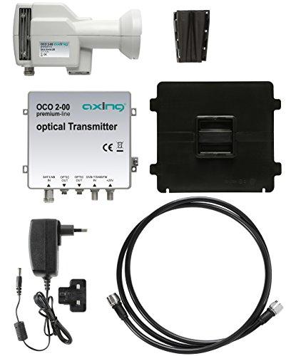 Axing OCO 2-00 optisches LNB-Set mit terrestrischer Einspeisung weiß