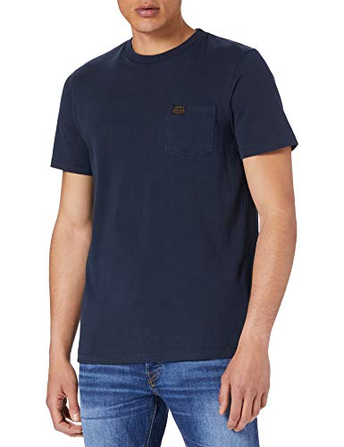 Superdry Mens M1010856A T-Shirt, Super Dark Navy, XL
