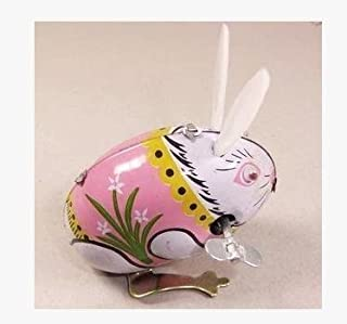 Cute Rabbit, Metal Animal Winds Up, Steel Tin Toy Collection
