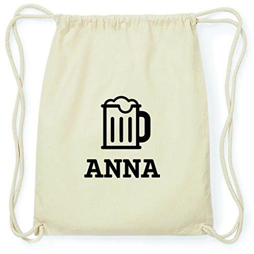 JOllify Turnbeutel - Happy Birthday - für Anna - Bier Gruß
