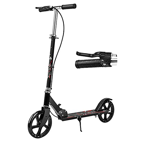 Scooters for Kids 8 Years and Up, Benewell Folding Kick Scooter, Lightweight Sport Scooters with Adjustable Handlebars, Large 200mm Wheels for Teens and Adults up to 330 lbs