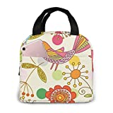 Yuanmeiju Birds and Floral 774 Kids Lunch Box Girls for Woman Man Work Pinic or Travel