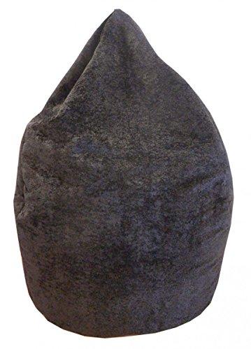 Valerian Sitzsack Plüsch schwarz, XXL CA. 300 Liter