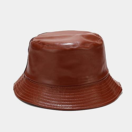 Bucket Hat Hut Damen Herren Rot Schwarz Retro Eimer Hut Männer Frauen Outdoor Sonnenblende Hut Unisex Casual Solid Hut-Braun