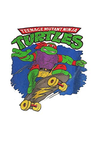Vintage 90s Tmnt Raph On Skateboard Notebook: Diary, Lined College Ruled Paper, Planner, Journal, 6x9 120 Pages, Matte Finish Cover