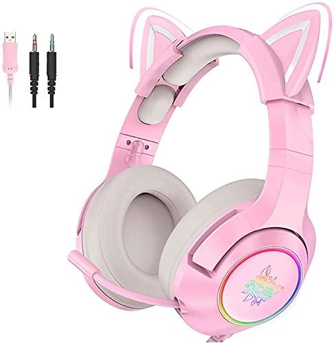 KopfhöRer Mit Mikrofon, Pink...
