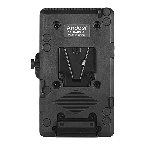 Andoer D-tap V Mount Battery Plate Adapter compatible with Sony Camera BP Battery, with Rod Clamp