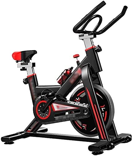 WGFGXQ Bicicleta estática Bicicleta de Ciclismo para Interiores Bicicleta giratoria silenciosa para Oficina Bicicleta estática giratoria para Uso doméstico Asiento con asa Ajustable con Pantalla PU