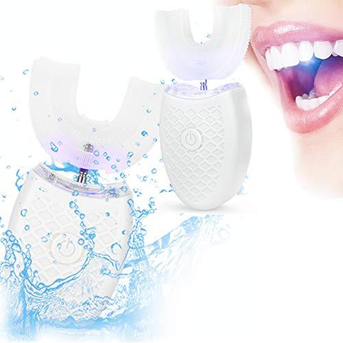 Cepillo de dientes sónico eléctrico para adultos con forma de U Cepillo...