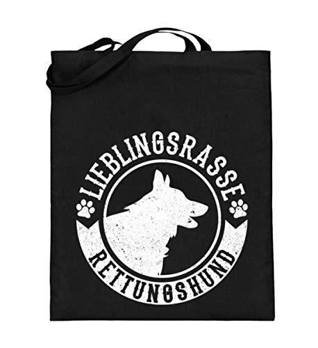 Chorchester Für Rettungs-Hund Such-Hunde Fans - Jutebeutel (mit langen Henkeln)
