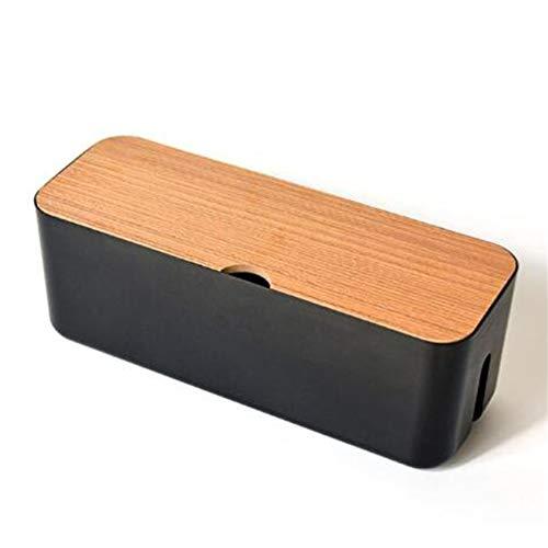 Generic Yiwaki Aufbewahrungsbox für Netzkabel zum Abdecken und Verstecken von Steckdosenleisten,schwarz